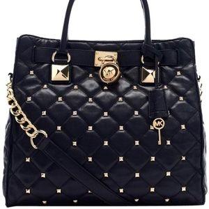 Michael Kors Hamilton Studded Black Bag